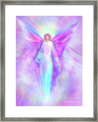 Archangel Raphael Framed Print by Glenyss Bourne