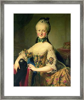 Archduchess Maria Elisabeth Habsburg-lothringen 1743-1808, Sixth Child Of Empress Maria Theresa Framed Print by Martin II Mytens or Meytens
