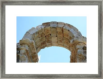 Arched Gate Of The Tetrapylon Framed Print by Tracey Harrington-Simpson