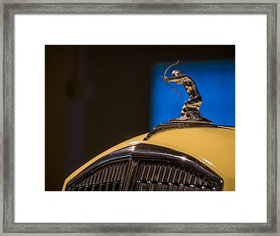 Archer Yellow Blue Framed Print by Paul Barkevich