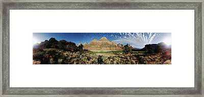 Arching Clouds Over Zion National Park Framed Print by Panoramic Images