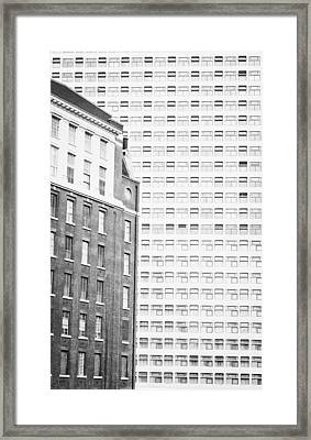 Architectural Background Framed Print by Tom Gowanlock
