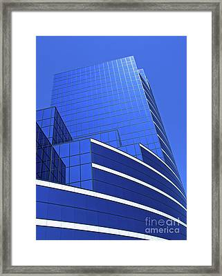 Architectural Blues Framed Print by Ann Horn