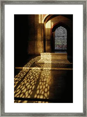 Architectural Details, Humayun's Tomb Framed Print by Adam Jones