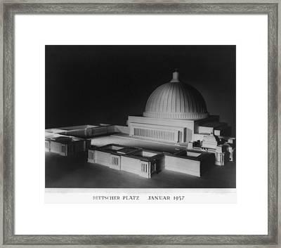Architectural Model Of Berlin Framed Print by Everett