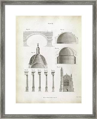 Architectural Structures Framed Print by Royal Institution Of Great Britain