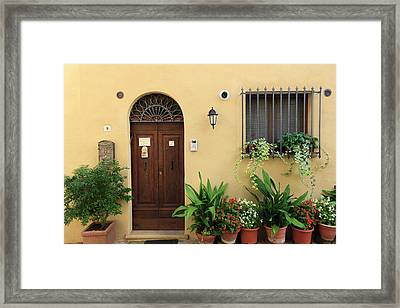 Architecture Pienza Unesco World Framed Print by Tom Norring