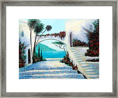 Archway  By The Sea Framed Print by Larry Cirigliano