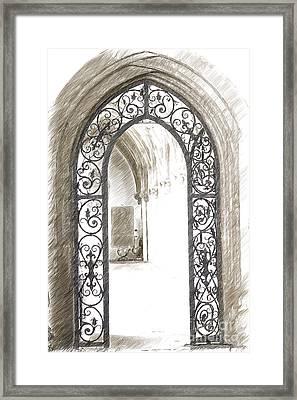Archway Passage Framed Print by Heiko Koehrer-Wagner