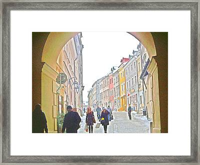 Archway Wall Into Lublin / Old City Framed Print by Rick Todaro