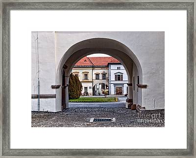 Archways Framed Print by Les Palenik