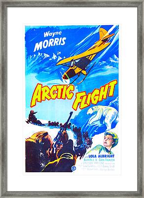 Arctic Flight, Us Poster, From Left Framed Print by Everett