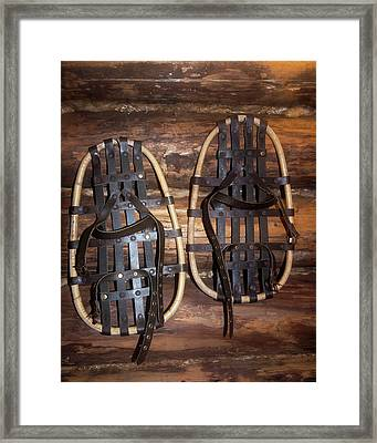 Arctic Snowshoes Framed Print by Louise Murray