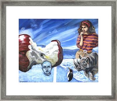 Arctic Soiree Framed Print by John Ashton Golden