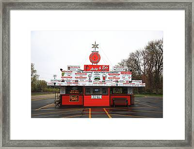 Oshkosh Wisconsin - Ardy And Ed's Drive-in Framed Print by Frank Romeo