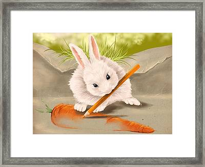 Are You Hungry? Framed Print by Veronica Minozzi
