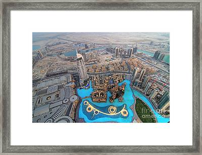 Areal View Over Dubai Framed Print by Lars Ruecker