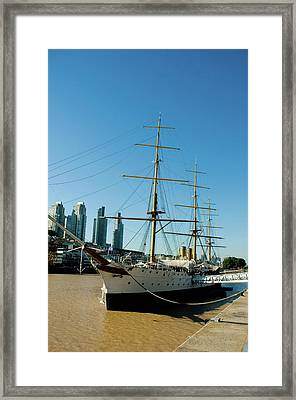 Argentina Buenos Aires Puerto Madero Framed Print by Inger Hogstrom