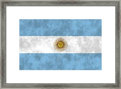 Argentina Flag Framed Print by World Art Prints And Designs