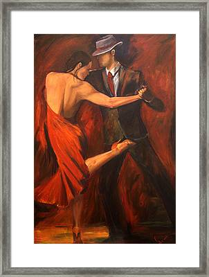 Argentine Tango Framed Print by Sheri  Chakamian