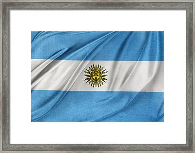 Argentinian Flag Framed Print by Les Cunliffe
