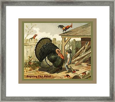 Arguing The Point Framed Print by Unknown