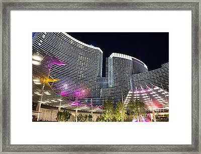Aria Light - Aria Resort And Casino At Citycenter In Las Vegas Framed Print by Jamie Pham