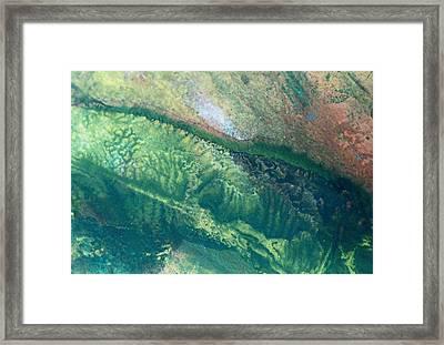 Ariel View Of Venus Framed Print by James Welch