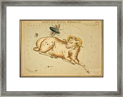 Aries Constellation Zodiac Sign 1825 Framed Print by Science Source