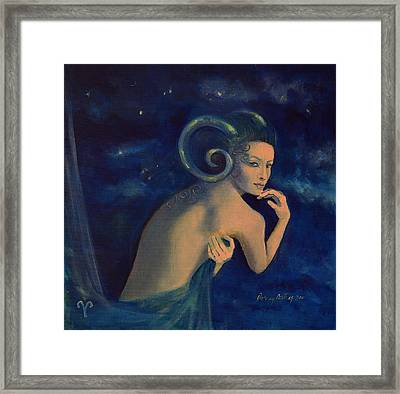 Aries From Zodiac Series Framed Print by Dorina  Costras