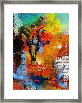 Aries Horoscope Framed Print by Corporate Art Task Force
