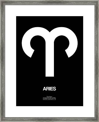 Aries Zodiac Sign White Framed Print by Naxart Studio