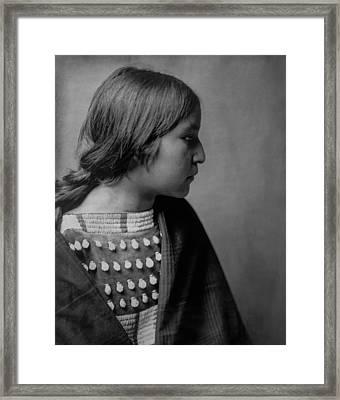 Arikara Girl Circa 1903 Framed Print by Aged Pixel