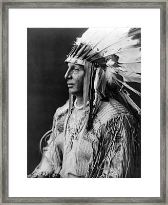 Arikara Indian Man Circa 1908 Framed Print by Aged Pixel