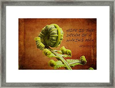 Aristotle Quote Framed Print by Bellesouth Studio