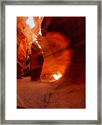 Arizona - Antelope Canyon 026 Framed Print by Lance Vaughn