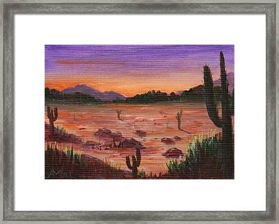 Arizona Desert Framed Print by Anastasiya Malakhova
