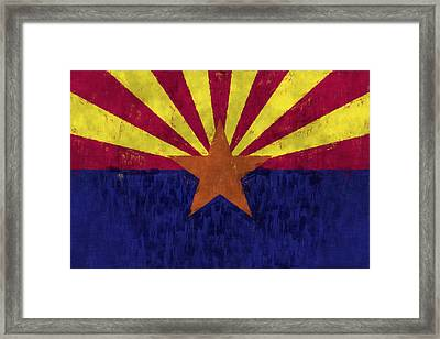 Arizona Flag Framed Print by World Art Prints And Designs
