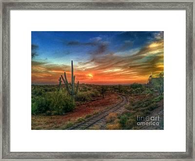 Arizona Heaven  Framed Print by L Jackson