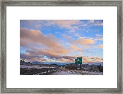 Arizona Highway Sunset Framed Print by Anthony Citro