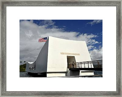 Arizona Memorial Framed Print by Caroline Stella