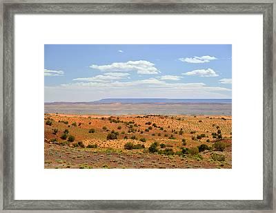 Arizona Near Canyon De Chelly Framed Print by Christine Till