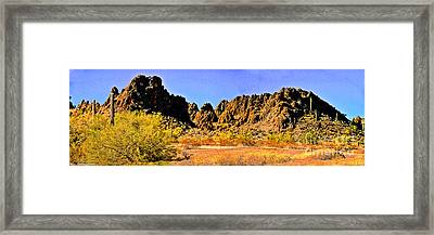 Arizona Panorama Organ Pipe Framed Print by Bob and Nadine Johnston
