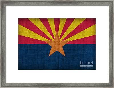 Arizona State Flag Framed Print by Pixel Chimp