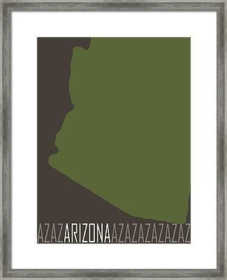 Arizona State Modern Framed Print by Flo Karp