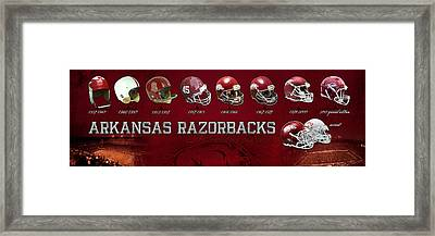 Arkansas Razorbacks Football Panorama Framed Print by Retro Images Archive