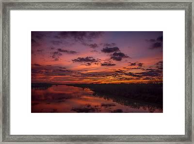 Arkansas River Rise Framed Print by Ken Beatty