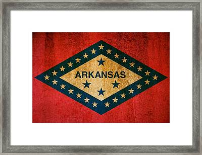 Arkansas State Flag Framed Print by Dan Sproul