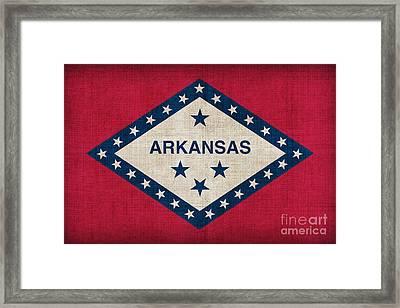 Arkansas State Flag Framed Print by Pixel Chimp