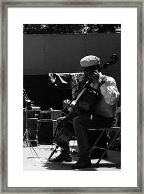 Arkestra Cellist Uc Davis Quad Framed Print by Lee  Santa